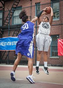 Micki Younger, Alease Vaughan West 4th Street Women's Pro Classic NYC: Run N Shoot (Purple) 80 v The Hawks (Grey) 33, William F. Passannante Ballfield, New York, NY, June 9, 2012