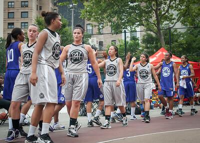 West 4th Street Women's Pro Classic NYC: Run N Shoot (Purple) 80 v The Hawks (Grey) 33, William F. Passannante Ballfield, New York, NY, June 9, 2012