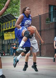 Stefanie Bingham West 4th Street Women's Pro Classic NYC: Run N Shoot (Purple) 80 v The Hawks (Grey) 33, William F. Passannante Ballfield, New York, NY, June 9, 2012