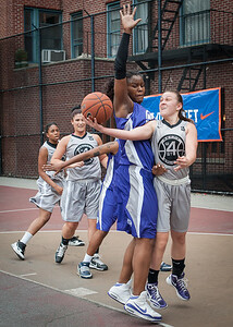 Micki Younger, Nicole Lenard West 4th Street Women's Pro Classic NYC: Run N Shoot (Purple) 80 v The Hawks (Grey) 33, William F. Passannante Ballfield, New York, NY, June 9, 2012