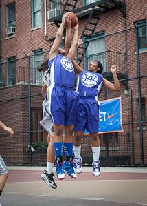 Dawn Coleman, Lou-lou Hayes West 4th Street Women's Pro Classic NYC: Run N Shoot (Purple) 80 v The Hawks (Grey) 33, William F. Passannante Ballfield, New York, NY, June 9, 2012