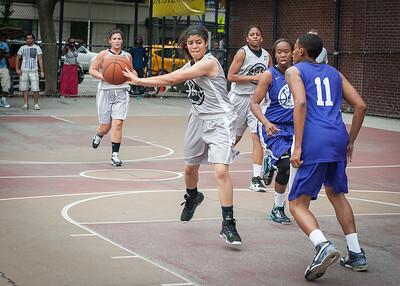 Kristin Sells West 4th Street Women's Pro Classic NYC: Run N Shoot (Purple) 80 v The Hawks (Grey) 33, William F. Passannante Ballfield, New York, NY, June 9, 2012
