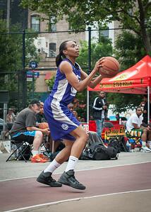 Jewel Adams West 4th Street Women's Pro Classic NYC: Run N Shoot (Purple) 80 v The Hawks (Grey) 33, William F. Passannante Ballfield, New York, NY, June 9, 2012