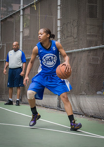 "Shemika Stevens West 4th Street Women's Pro Classic NYC: Primetime (Blue) 57 v Lady Ballers (Orange) 51, ""The Cage"", New York, NY, June 17, 2012"