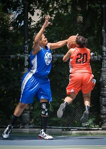 "Bria Jackson, Dana Wynne West 4th Street Women's Pro Classic NYC: Primetime (Blue) 57 v Lady Ballers (Orange) 51, ""The Cage"", New York, NY, June 17, 2012"