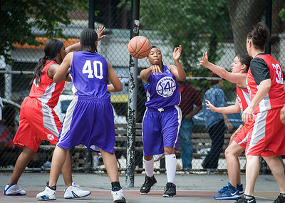 Eyana Thompson West 4th Street Women's Pro Classic NYC: Da Bizznezz (Purple) 47 v Ball 4 Life (Red) 49, William F. Passannante Ballfield, New York, NY, June 17, 2012