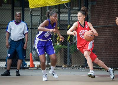 Alicea Ulmer, Laurence Mathieu-Leger West 4th Street Women's Pro Classic NYC: Da Bizznezz (Purple) 47 v Ball 4 Life (Red) 49, William F. Passannante Ballfield, New York, NY, June 17, 2012