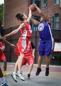 Laurence Mathieu-Leger, Raygan Plummer West 4th Street Women's Pro Classic NYC: Da Bizznezz (Purple) 47 v Ball 4 Life (Red) 49, William F. Passannante Ballfield, New York, NY, June 17, 2012