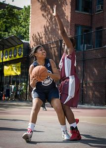 Angel Porter, Cherkira Lashley West 4th Street Women's Pro Classic NYC: No Limit (Navy) 64 v Saints (Burgundy) 35, William F. Passannante Ballfield, New York, NY, June 17, 2012