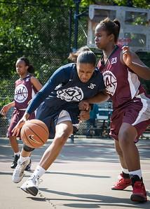 Whitney Toone, Cherkira Lashley West 4th Street Women's Pro Classic NYC: No Limit (Navy) 64 v Saints (Burgundy) 35, William F. Passannante Ballfield, New York, NY, June 17, 2012