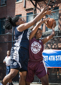 Myrriah McIntosh, Rashawnah French West 4th Street Women's Pro Classic NYC: No Limit (Navy) 64 v Saints (Burgundy) 35, William F. Passannante Ballfield, New York, NY, June 17, 2012
