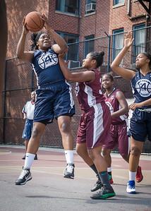 Rashawnah French, Nikita Stewart West 4th Street Women's Pro Classic NYC: No Limit (Navy) 64 v Saints (Burgundy) 35, William F. Passannante Ballfield, New York, NY, June 17, 2012