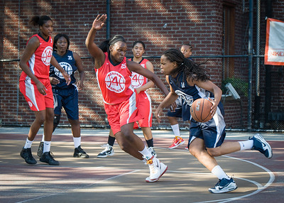 Nadia Duncan, Michelle Campbell West 4th Street Women's Pro Classic NYC: Big East Ballers (Red) 63 v Impulse (Navy) 64, William F. Passannante Ballfield, New York, NY, June 17, 2012