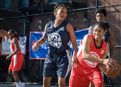 Anika Rivera, Briana Brown West 4th Street Women's Pro Classic NYC: Big East Ballers (Red) 63 v Impulse (Navy) 64, William F. Passannante Ballfield, New York, NY, June 17, 2012