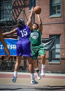 Anjale Barrett, Alicea Ulmer West 4th Street Women's Pro Classic NYC: Exodus NYC Apache (Green) 61 v Da Bizznezz (Purple) 42, William F. Passannante Ballfield, New York, NY, June 23, 2012