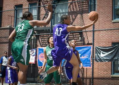 Williams Jamilla, Terriah Cooper West 4th Street Women's Pro Classic NYC: Exodus NYC Apache (Green) 61 v Da Bizznezz (Purple) 42, William F. Passannante Ballfield, New York, NY, June 23, 2012