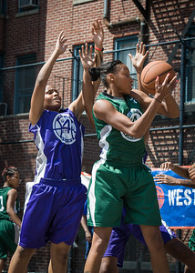 Nicole Michael, Jamilla Williams West 4th Street Women's Pro Classic NYC: Exodus NYC Apache (Green) 61 v Da Bizznezz (Purple) 42, William F. Passannante Ballfield, New York, NY, June 23, 2012