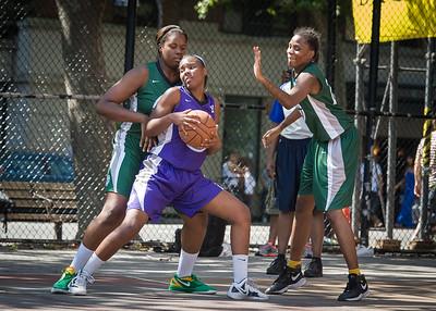 Alicea Ulmer, Terriah Cooper West 4th Street Women's Pro Classic NYC: Exodus NYC Apache (Green) 61 v Da Bizznezz (Purple) 42, William F. Passannante Ballfield, New York, NY, June 23, 2012