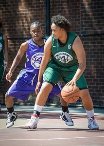 Anjale Barrett, Eyana Thompson West 4th Street Women's Pro Classic NYC: Exodus NYC Apache (Green) 61 v Da Bizznezz (Purple) 42, William F. Passannante Ballfield, New York, NY, June 23, 2012