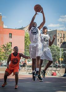 Shac Campbell, Rianna Ward, Phylicia Daniels West 4th Street Women's Pro Classic NYC: Lady Falcons (White) 51 v Deuce Trey (Orange) 33, William F. Passannante Ballfield, New York, NY, June 23, 2012