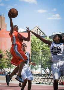 Shorty Reed West 4th Street Women's Pro Classic NYC: Lady Falcons (White) 51 v Deuce Trey (Orange) 33, William F. Passannante Ballfield, New York, NY, June 23, 2012