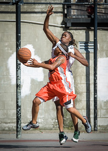 Shorty Reed, Phylicia Daniels West 4th Street Women's Pro Classic NYC: Lady Falcons (White) 51 v Deuce Trey (Orange) 33, William F. Passannante Ballfield, New York, NY, June 23, 2012