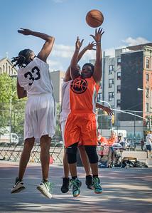 Phylicia Daniels, Lawanda Greene West 4th Street Women's Pro Classic NYC: Lady Falcons (White) 51 v Deuce Trey (Orange) 33, William F. Passannante Ballfield, New York, NY, June 23, 2012