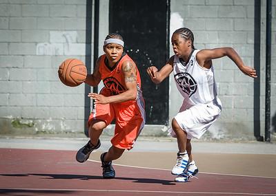 Shorty Reed, Shemar Stewerson West 4th Street Women's Pro Classic NYC: Lady Falcons (White) 51 v Deuce Trey (Orange) 33, William F. Passannante Ballfield, New York, NY, June 23, 2012