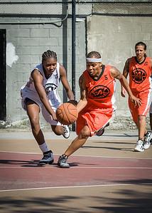 Shorty Reed, Aquilin Hayes West 4th Street Women's Pro Classic NYC: Lady Falcons (White) 51 v Deuce Trey (Orange) 33, William F. Passannante Ballfield, New York, NY, June 23, 2012