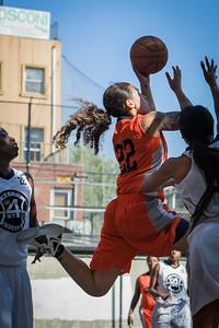 Nicky Young West 4th Street Women's Pro Classic NYC: Lady Falcons (White) 51 v Deuce Trey (Orange) 33, William F. Passannante Ballfield, New York, NY, June 23, 2012