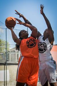 Yolanda Rayside, Nick Nicholas West 4th Street Women's Pro Classic NYC: Lady Falcons (White) 51 v Deuce Trey (Orange) 33, William F. Passannante Ballfield, New York, NY, June 23, 2012