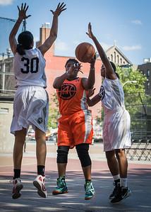 Lawanda Greene West 4th Street Women's Pro Classic NYC: Lady Falcons (White) 51 v Deuce Trey (Orange) 33, William F. Passannante Ballfield, New York, NY, June 23, 2012