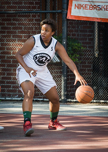 Krista Mitchell West 4th Street Women's Pro Classic NYC: Lady Falcons (White) 51 v Deuce Trey (Orange) 33, William F. Passannante Ballfield, New York, NY, June 23, 2012