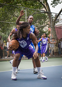 """Micki Younger West 4th Street Women's Pro Classic NYC: Primetime (Blue) 88 v Run N Shoot (Purple) 68, """"The Cage"""", New York, NY, July 7, 2012"""