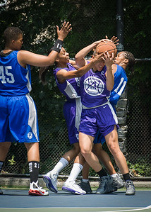 """Thanzina Cook West 4th Street Women's Pro Classic NYC: Primetime (Blue) 88 v Run N Shoot (Purple) 68, """"The Cage"""", New York, NY, July 7, 2012"""