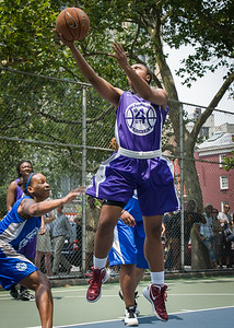 "Stephany Neptune West 4th Street Women's Pro Classic NYC: Primetime (Blue) 88 v Run N Shoot (Purple) 68, ""The Cage"", New York, NY, July 7, 2012"