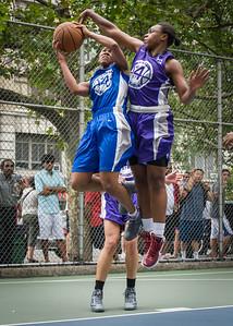 "Maurita Reid, Stephany Neptune West 4th Street Women's Pro Classic NYC: Primetime (Blue) 88 v Run N Shoot (Purple) 68, ""The Cage"", New York, NY, July 7, 2012"