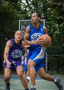"Maurita Reid West 4th Street Women's Pro Classic NYC: Primetime (Blue) 88 v Run N Shoot (Purple) 68, ""The Cage"", New York, NY, July 7, 2012"