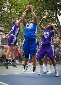 "Jazmine Wright, Thanzina Cook West 4th Street Women's Pro Classic NYC: Primetime (Blue) 88 v Run N Shoot (Purple) 68, ""The Cage"", New York, NY, July 7, 2012"