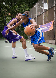 """Bianca Brown West 4th Street Women's Pro Classic NYC: Primetime (Blue) 88 v Run N Shoot (Purple) 68, """"The Cage"""", New York, NY, July 7, 2012"""