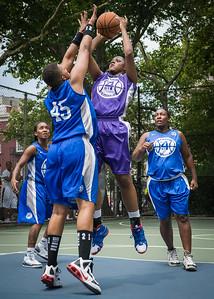 "Dawn Coleman, Dana Wynne West 4th Street Women's Pro Classic NYC: Primetime (Blue) 88 v Run N Shoot (Purple) 68, ""The Cage"", New York, NY, July 7, 2012"