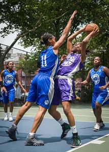 "Toni-Ann, Maurita Reid West 4th Street Women's Pro Classic NYC: Primetime (Blue) 88 v Run N Shoot (Purple) 68, ""The Cage"", New York, NY, July 7, 2012"