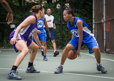 "Maurita Reid, Thanzina Cook West 4th Street Women's Pro Classic NYC: Primetime (Blue) 88 v Run N Shoot (Purple) 68, ""The Cage"", New York, NY, July 7, 2012"