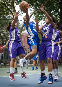 """Renee Taylor West 4th Street Women's Pro Classic NYC: Primetime (Blue) 88 v Run N Shoot (Purple) 68, """"The Cage"""", New York, NY, July 7, 2012"""