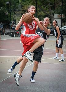 Laurence Mathieu-Leger, Nicole Kazmarski West 4th Street Women's Pro Classic NYC: Cobra Hustlers (Black) 72 v Ball 4 Life (Red) 52, William F. Passannante Ballfield, New York, NY, July 7, 2012