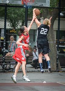 Nicole Kazmarski, Laurence Mathieu-Leger West 4th Street Women's Pro Classic NYC: Cobra Hustlers (Black) 72 v Ball 4 Life (Red) 52, William F. Passannante Ballfield, New York, NY, July 7, 2012