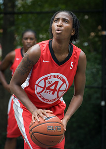 """Shenneika Smith West 4th Street Women's Pro Classic NYC: Big East Ballers (Red) 65 v Run N Shoot (Purple) 63, """"The Cage"""", New York, NY, July 14, 2012"""