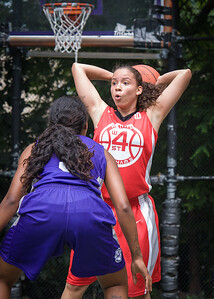 "Regina Washington West 4th Street Women's Pro Classic NYC: Big East Ballers (Red) 65 v Run N Shoot (Purple) 63, ""The Cage"", New York, NY, July 14, 2012"