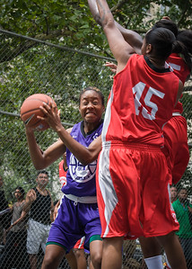 """Toni-Ann Lawrence West 4th Street Women's Pro Classic NYC: Big East Ballers (Red) 65 v Run N Shoot (Purple) 63, """"The Cage"""", New York, NY, July 14, 2012"""