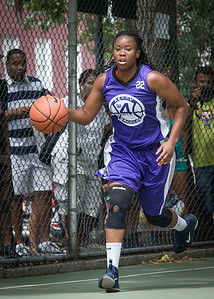 """Stefanie Bingham West 4th Street Women's Pro Classic NYC: Big East Ballers (Red) 65 v Run N Shoot (Purple) 63, """"The Cage"""", New York, NY, July 14, 2012"""